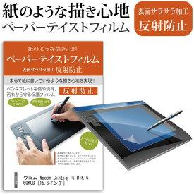 ワコム Wacom Cintiq 16 DTK1660K0D [15.6インチ] 機種用 ペーパーライク 指紋防止 反射防止 ノングレア 液晶保護フィルム ペンタブレット用フィルム メール便送料無料