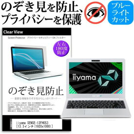 IIYAMA SENSE-13FH053 [13.3インチ] 機種用 のぞき見防止 覗き見防止 プライバシー 保護フィルム ブルーライトカット 反射防止 キズ防止 メール便送料無料