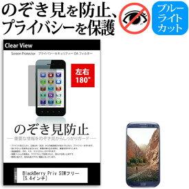 BlackBerry Priv SIMフリー [5.4インチ] 機種で使える のぞき見防止 覗き見防止 左右2方向 プライバシー 保護フィルム ブルーライトカット 反射防止 キズ防止 メール便送料無料