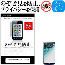 BlackBerry KEY2 [4.5インチ] 機種で使える のぞき見防止 覗き見防止 左右2方向 プライバシー 保護フィルム ブルーライトカット 反射防止 キズ防止 メール便送料無料