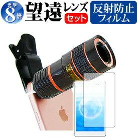 APPLE iPad Air 2 [9.7インチ] 機種対応クリップ式 8倍望遠レンズ と 反射防止 液晶保護フィルム 背面カメラ レンズ メール便送料無料