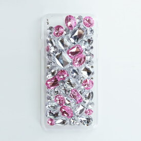 【DRESSTIC】【正規品】JEWEL DROP DECO FANCY PINK デコファンシーピンク iPhone6/6sケース ストーン 《 ドレスティック スマホ スマホケース アイフォン6 》