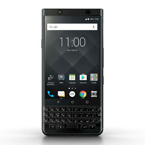 「BlackBerry」KEYone Black Edition Android 64GB SIMフリースマートフォン ブラックベリー 4894461743837