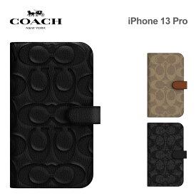 COACH iPhone13Pro ケース コーチ Folio Case 手帳型ケース 手帳型 定期 カード収納 スマホケース 正規代理店