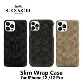 iPhone 12/12 Pro ケース Coach コーチ Slim Wrap Case スマホケース正規代理店