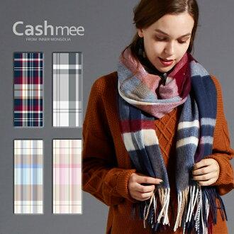 "2017 new work ""cashmere 100% panel check wave stall /Bellatrix 4color"""