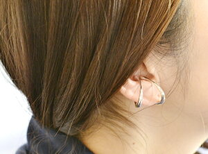 オーバルイヤカフフープイヤリングSV925シルバー耳の中側で着用したい【楽ギフ_包装】誕生日クリスマスプレゼント