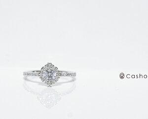 "【CASHO-BRIDAL】pt900DIAMONDRING0.45UPCOSMOプラチナダイヤモンドリング0.45ctUP""コスモ""/ブライダル/婚約指輪/"