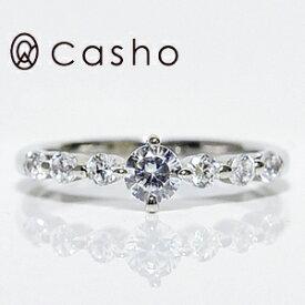 "【CASHO-BRIDAL】ハードプラチナ ダイヤモンドリング0.60""ストレートライン SIXラージメレ エタニティー""エンゲージリング/ブライダル/婚約指輪/pt950 HARD PLATINUM DIAMOND RING 0.60"