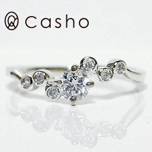 "【CASHO-BRIDAL】ハードプラチナ ダイヤモンドリング 0.36""バブルセット4点留め""エンゲージリング/ブライダル/婚約指輪/pt950 HARD PLATINUM DIAMOND RING"