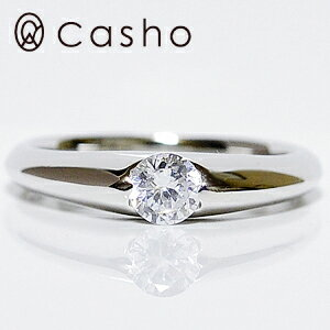 "【CASHO-BRIDAL】ハードプラチナダイヤモンドリング ""ストレート タンク 2点留め""エンゲージリング/ブライダル/婚約指輪/pt950 HARD PLATINUM DIAMOND RING 0.30"