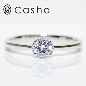 """【CASHO-BRIDAL】ハードプラチナ ダイヤモンドリング 0.30""""モダン&クラッシック""""エンゲージリング/ブライダル/婚約指輪/pt950 DIAMOND 0.30 SIMPLE CLASSIC"""