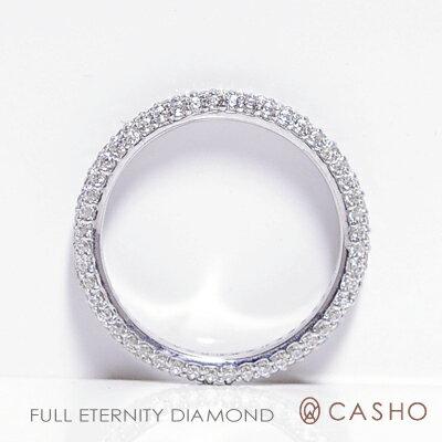 【CASHO】ホワイト、ピンク、イエローゴールド ダイヤモンド フルエタニティーリング ピンキーリング/甲丸/3mm/K18WG,PG,YG DIAMOND FULL ETERNITY RING0.90-1.10/pt900 別作可 【楽ギフ_包装】