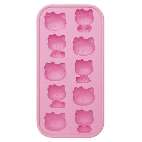シリコントレー〔ハローキティ〕【キティファン/サンリオ/キティ/アイストレー/製氷皿/氷作り/お菓子/チョコレート】