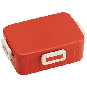 抗菌4点ロックランチボックス[650ml]●レトロフレンチ オレンジレッド●//銀イオン Ag+ ランチボックス 1段ランチ 1段弁当//