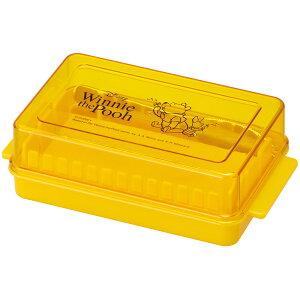 スケーター カッティングガイド付き バターケース便利な先割れタイプのバターナイフ付き♪●くまのプーさん ハニー●//バターカット 簡単 便利 調理 パン お菓子 製菓 料理 BTG1 バター