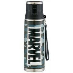 大容量1200mlメンズ水筒 直飲みタイプ マーベル 迷彩グレー