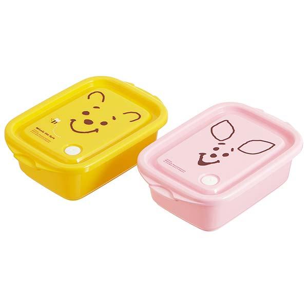 シールボックスM 2P プー フェイス くまのプーさん POOH ディズニー おしゃれ かわいい 保存容器 お弁当箱 2つセット 2個セット ツイン キッチン キャラクター プレゼント ギフトラッピング スケーター