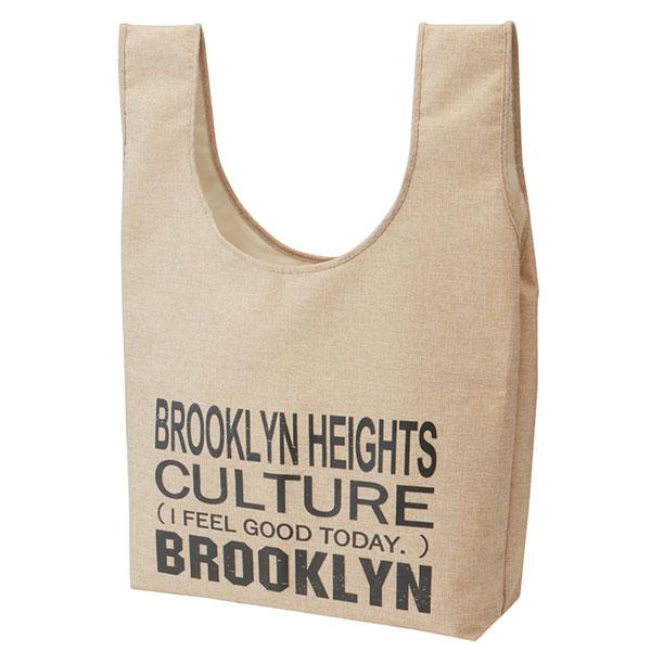 レジャートートバッグ ブルックリン ブルックリン おしゃれ 英字 男性 男子 メンズ おでかけトート トートバッグ 鞄 かばん トート プレゼント スケーター