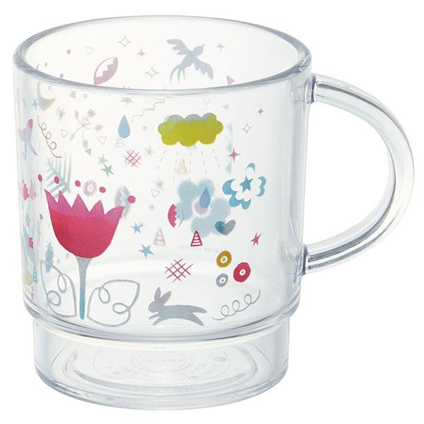 スタッキングカップ ララブルーム 花 花柄 フラワー 女子 レディース ポップ カラフル かわいい おしゃれ コップ カップ スタッキング マグカップ プラスチック 食器