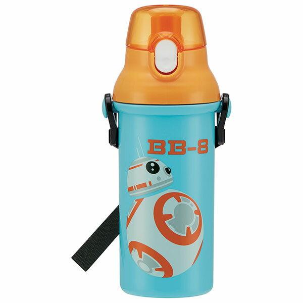 直飲み プラスチック ボトル BB−8 ボーダー スターウォーズ STARWARS STAR WARS BB-8 男の子 男子 男性 女子 水筒 プラスチック 直飲み キャラクター スケーター 肩紐