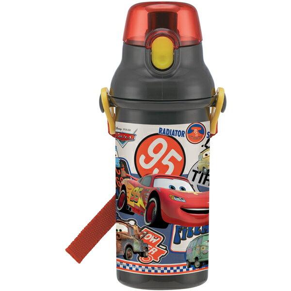 【送料無料】水筒 プラ水筒 子供用 ボトル プラスチック ベルト付き 紐付き 直飲み 軽量 軽い 480ml 子供用 カーズ18 CARS マックィーン ディズニー Disney キャラクター キャラクター スケーター ギフトラッピング プレゼント 雑貨