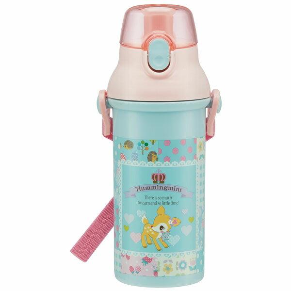 直飲み プラスチック ボトル ハミングパッチワーク ハミング ハミングミント こじか 小鹿 サンリオ かわいい 可愛い 女の子 水筒 プラスチック 直飲み キャラクター スケーター 肩紐