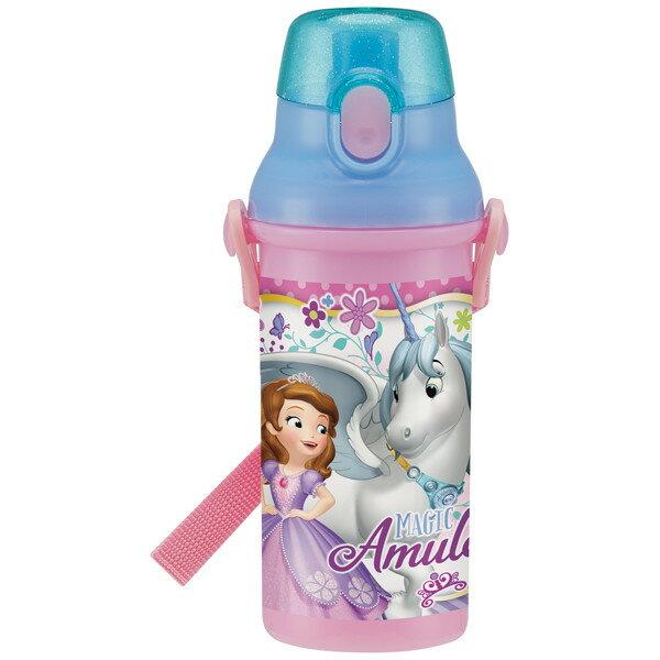 【送料無料】水筒 プラ水筒 子供用 ボトル プラスチック ベルト付き 紐付き 直飲み 軽量 軽い 480ml 子供用 ちいさなプリンセスソフィア18 ディズニー おしゃれ かわいい 可愛い Disney 雑貨