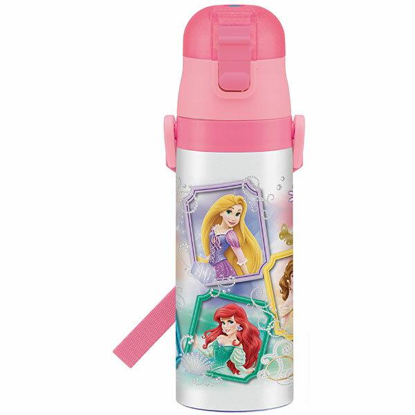 超軽量 水筒 プリンセス ディズニープリンセス プリンセス 姫 ディズニー Disney 女の子 女子 子供 水筒 ボトル 直飲み ワンタッチ 保冷 コンパクト 小さめ キャラクター スケーター ステンレス 肩紐 雑貨