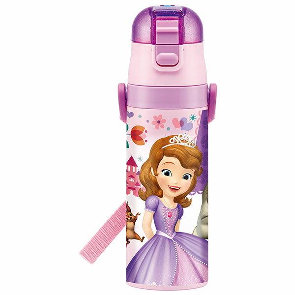 超軽量 水筒 ソフィア ソフィア ちいさなプリンセス ディズニープリンセス プリンセス ディズニー Disney かわいい 水筒 ボトル 直飲み ワンタッチ 保冷 コンパクト 小さめ キャラクター スケーター ステンレス 肩紐 雑貨