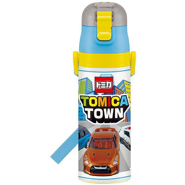 【送料無料】水筒 子供用 ボトル ステンレス 保冷 ベルト付き 紐付き 直飲み 軽量 軽い 470ml 子供用 TOMICA トミカ18 自動車 くるま かっこいい 乗り物 のりもの キャラクター スケーター ギフトラッピング プレゼント 雑貨