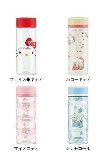 クリアボトル水筒透明ボトル400mlマイボトルプラスチックキャラクターミニオンディズニープリンセスアリエルベルミッキーマウスミニーマウスドナルドサンリオピカチュウおしゃれ
