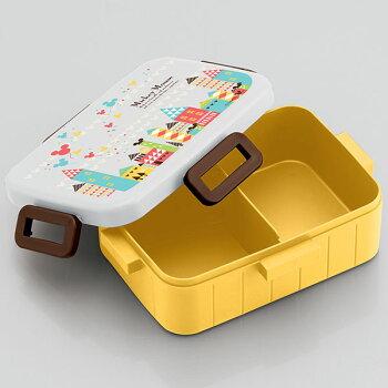4点ロックランチボックスミッキータウンミッキー街おしゃれシンプルかわいいディズニーDisney女の子女子子供お弁当箱ランチボックスロック1段弁当箱キャラクタースケーター