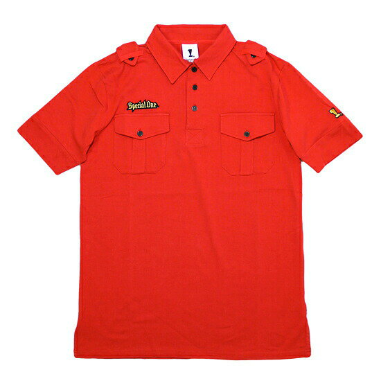SPECIAL 1 スペシャル1 Epaulette Polo Shirt ポロシャツ レッド
