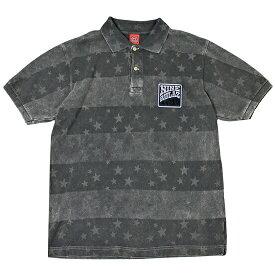 【 Nine Rulaz Line / ナインルーラーズ 】 Vintage Polo Shirt ( ヴィンテージ ポロシャツ ) / ブラック ( ナインルーラーズ ポロシャツ ) ( NINE RULAZ ポロシャツ )