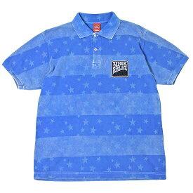 【 Nine Rulaz Line / ナインルーラーズ 】 Vintage Polo Shirt ( ヴィンテージ ポロシャツ ) / ブルー 【あす楽対応_東北】【あす楽対応_関東】 ( ナインルーラーズ ポロシャツ ) ( NINE RULAZ ポロシャツ )
