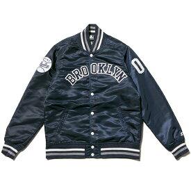 送料無料 ナインルーラーズ NINE RULAZ LINE × STARTER Black Label Varsity Jacket スタジアムジャケット スタジャン スターター BROOKLYN ネイビー
