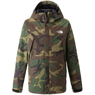 The north face NORTHFACE novelty scoop jacket / Woodland Camo face scoop jacket