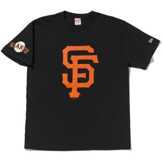NEW ERA ニューエラ キャップ Cotton Tee MLB サンフランシスコ ジャイアンツ ビッグロゴ Tシャツ 半袖 ブラック 11224813