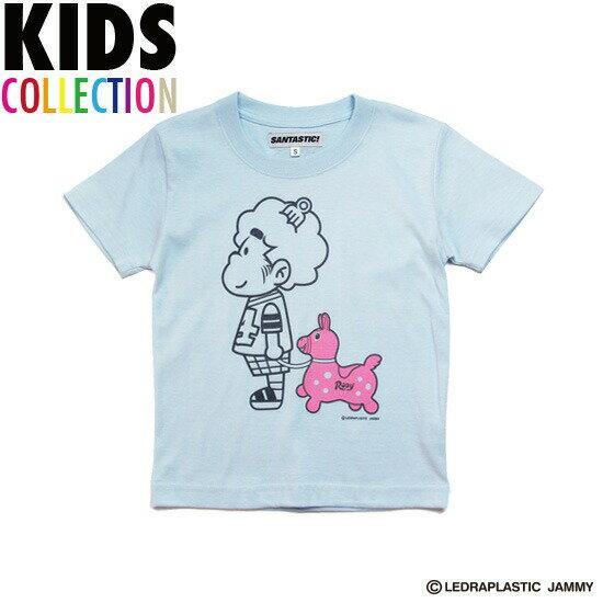 サンタスティック キッズ SANTASTIC! × RODY KID'S Hasheem Tee Tシャツ 半袖 キッズ 子供服 ハシーム RODY ライトブルー