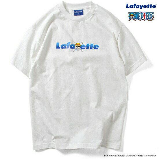 LAFAYETTE (ラファイエット) Lafayette × ONE PIECE Straw Hat Pirates Logo Tee 半袖 Tシャツ ホワイト LFT16AW003