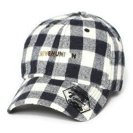 7UNION 7ユニオン Buffalo Bent Brim Cap ベントブリムキャップ ボールキャップ 帽子 ICY-141 バッファローチェック ブラック×ホワイト