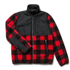 送料無料 NINE RULAZ LINE ナインルーラーズ Check Boa Jacket ボアジャケット チェック ボア NRAW16-038 レッド