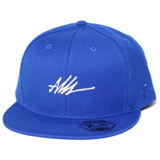 7UNION 7ユニオン Ash Logo Snapback Cap スナップバックキャップ 帽子 ロイヤルブルー ICASH-004