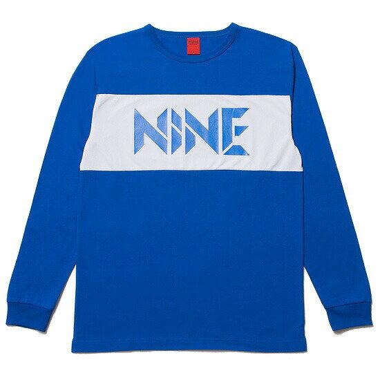 NINE RULAZ LINE ナインルーラーズ Mesh Logo LS Tee カットソー 長袖 Tシャツ ブルー