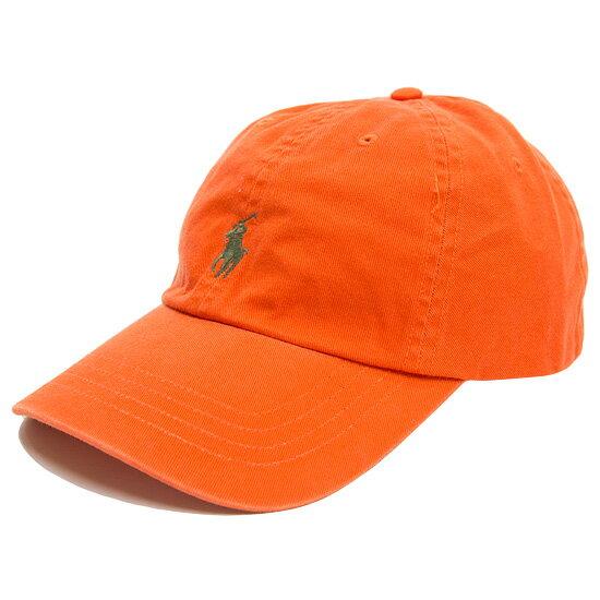 POLO by Ralph Lauren ポロ ラルフローレン Cotton Chino Baseball Cap キャップ 帽子 オレンジ