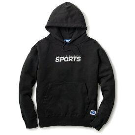 送料無料 INTERBREED インターブリード IB Sports Logo Hoodie スウェット パーカー プルオーバー ブラック