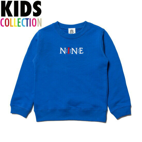NINE RULAZ LINE ナインルーラーズ キッズ 子供服 KIDS Logo Crew Neck 長袖 トレーナー スウェット スエット NRKAW16-006 ブルー