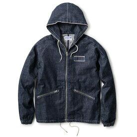 """送料無料 INTERBREED インターブリード Selvedge Supply """"Worker's Hood Jacket"""" フードジャケット セルビッチデニム インディゴブルー"""