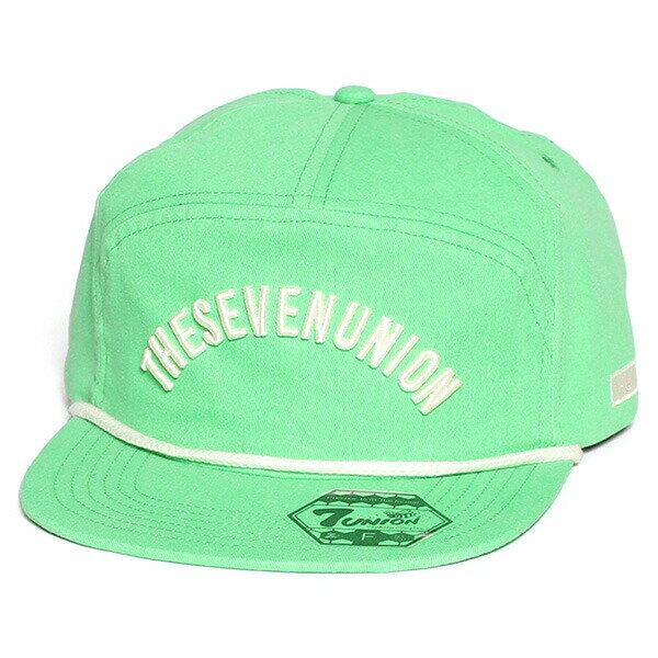 7UNION 7ユニオン Smith Snapback Cap スナップバックキャップ 7パネルキャップ 帽子 ユニセックス IAVW-108 グリーン
